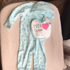 Other - Jammies, hat and bib set